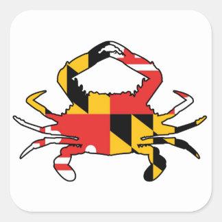 Maryland Crab Square Sticker