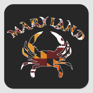 Maryland Crab Square Sticker