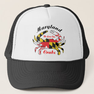 b5eaa886679ba Maryland crab state flag trucker cap hat