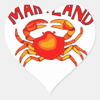 Maryland Crab Heart Sticker