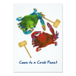 Maryland Crabs Before & After Crab Feast 5x7 Paper Invitation Card