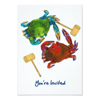 Maryland Crabs Before & After You're Invited Card