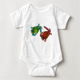 Maryland Crabs Before and After Baby Bodysuit
