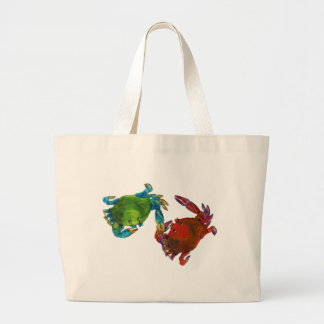 Maryland Crabs Before and After Large Tote Bag