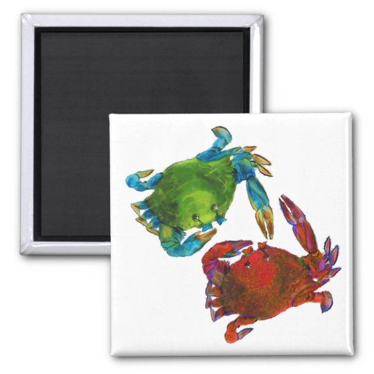 Maryland Crabs Before and After Magnet