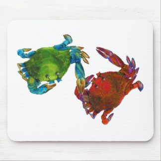 Maryland Crabs Before and After Mouse Pad