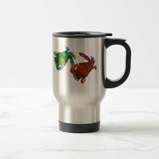 Maryland Crabs Before and After 15 Oz Stainless Steel Travel Mug