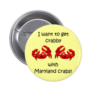 Maryland crabs button