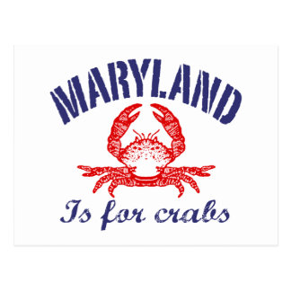 Maryland  Crabs Card Postcard