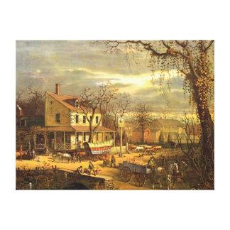 Maryland Crossroads Inn 1872 Canvas Print