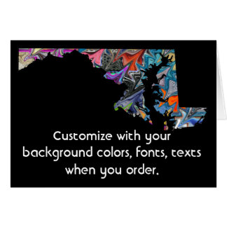 Maryland Customize colorful card how you want it
