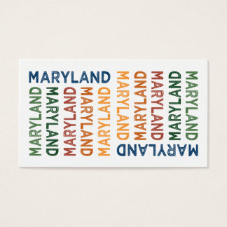 Maryland Cute Colorful Business Card