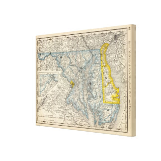 Maryland, DC, and Delaware Canvas Prints