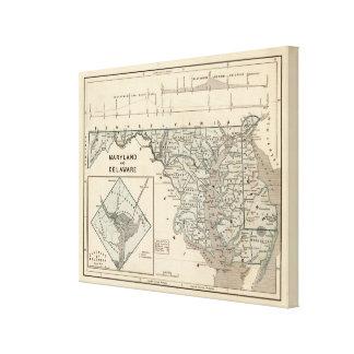 Maryland, Delaware, DC Canvas Prints