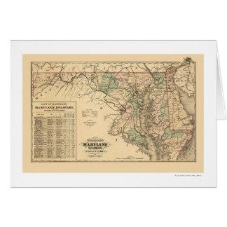Maryland & Delaware Railroad Map 1876 Card