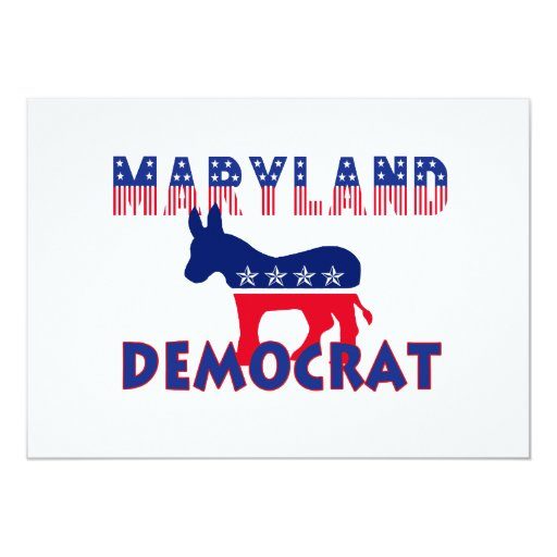 Maryland Democrat 5x7 Paper Invitation Card