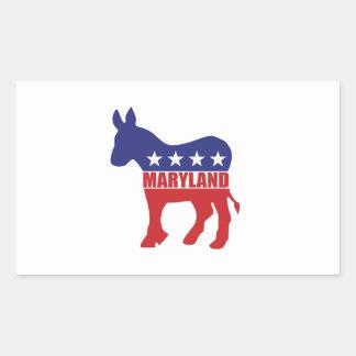 Maryland Democrat Donkey Rectangular Sticker
