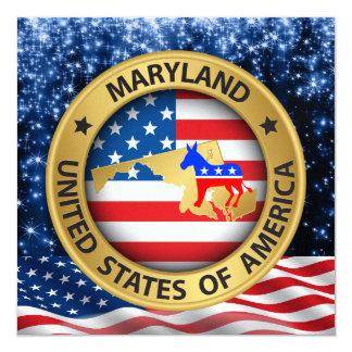 Maryland Democrat Patriotic Invitation - srf