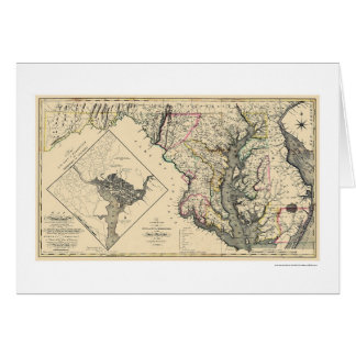 Maryland Detailed Map 1795 Card