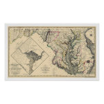 Maryland Detailed Map 1795 Poster