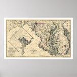 Maryland detalló el mapa 1795 impresiones