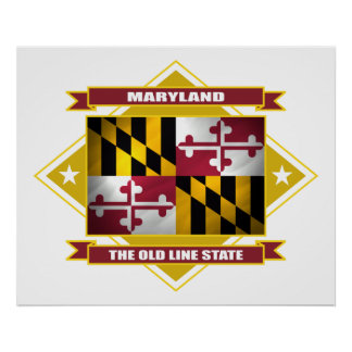 Maryland Diamond Poster