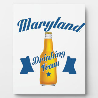 Maryland Drinking team Plaque