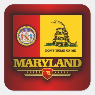 Maryland (DTOM) Pegatina Cuadrada