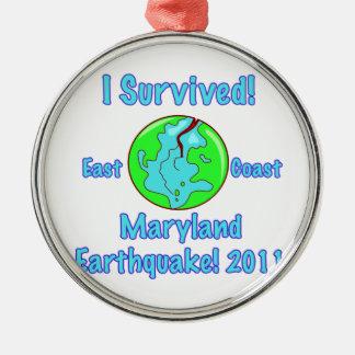 Maryland Earthquake of 2011 Metal Ornament