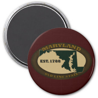 Maryland Est. 1788 Imán Redondo 7 Cm
