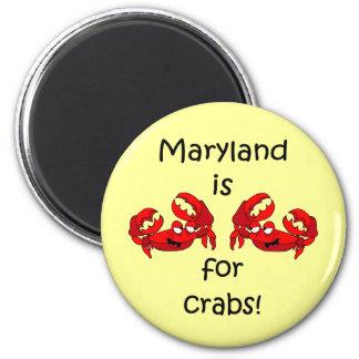 Maryland está para los cangrejos imán redondo 5 cm