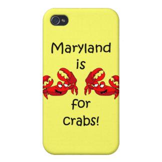 Maryland está para los cangrejos iPhone 4 fundas