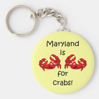Maryland está para los cangrejos llavero redondo tipo pin