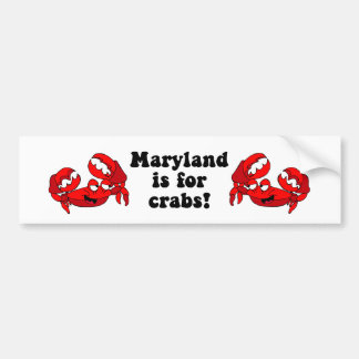 Maryland está para los cangrejos pegatina para auto