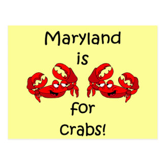 Maryland está para los cangrejos tarjetas postales