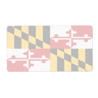 Maryland Faint Flag Shipping Label