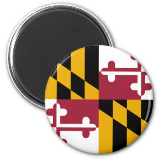 Maryland Flag 2 Inch Round Magnet