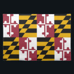 """Maryland Flag American MoJo Placemat<br><div class=""""desc"""">Elegant Placemats with Maryland State Flag. United States Of America.  This product its customizable.</div>"""