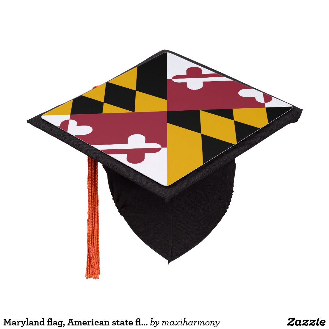 Maryland flag, American state flag Graduation Cap Topper