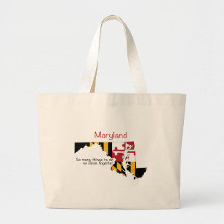 Maryland Flag and Map Tote Bags
