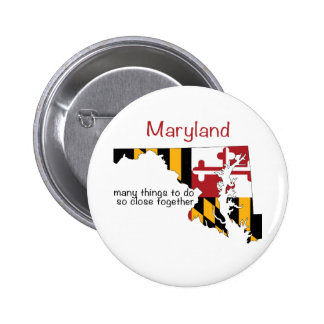 Maryland Flag and Map Pins