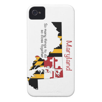 Maryland Flag and Map iPhone 4 Cover