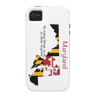 Maryland Flag and Map iPhone 4 Cases