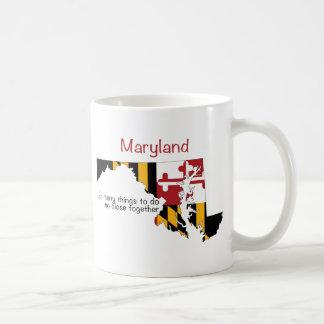Maryland Flag and Map Coffee Mug