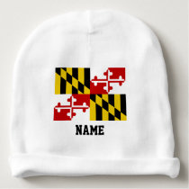 Maryland Flag Baby Baby Beanie