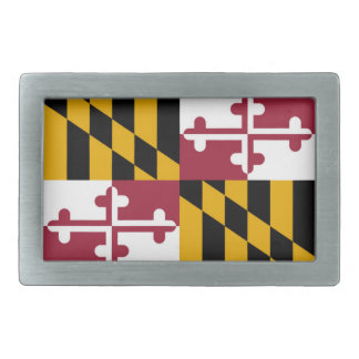 Maryland flag rectangular belt buckles