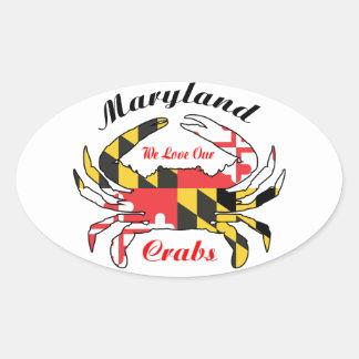 Maryland flag blue crab car decal sticker