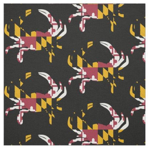 Maryland Flag Blue Crab Pattern Fabric