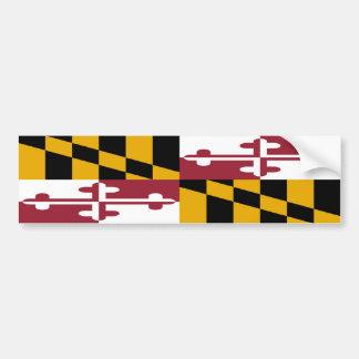 Maryland Flag Car Bumper Sticker