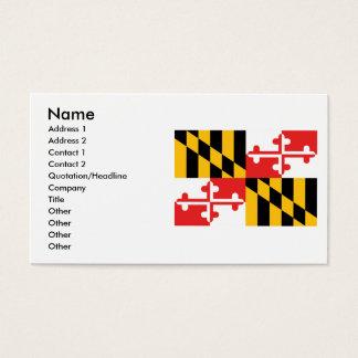Maryland Flag Business Card